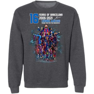 Messi 16 Years Of Barca Lionel Messi 10 2005 2021 Shirt, Hoodie