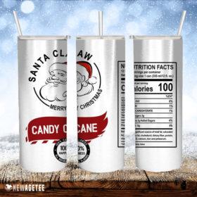 Santa Claw Candy Cane Skinny Tumbler