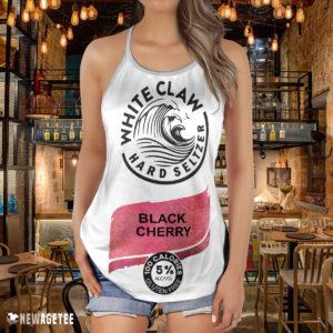 Black Cherry White Claw Glitter Costume Criss Cross Tank Top