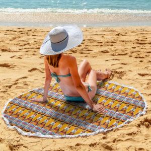 Coors Light Beer Round Beach Towel