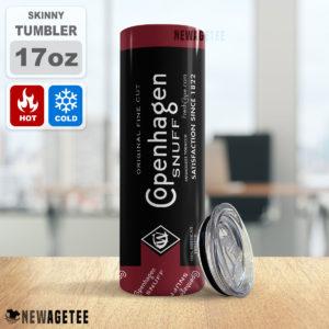 Copenhagen Snuff Skinny Tumbler Stainless Steel 20oz 30oz