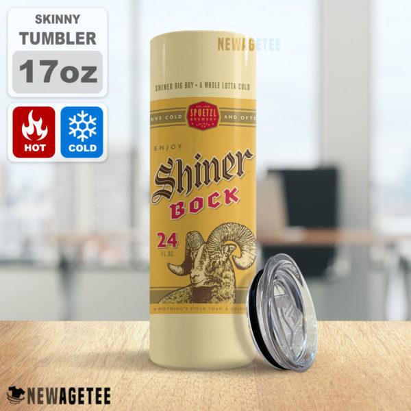 Shiner Bock Beer Skinny Tumbler 20oz 30oz