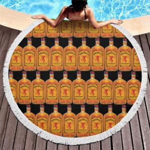 Fireball Cinnamon Whisky Round Beach Towel