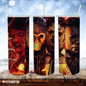 Horror Movie Halloween Skinny Tumbler Friday the 13th Nightmare on Elm Street Tumbler