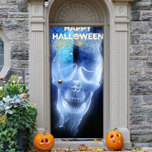 Happy Halloween Skeleton XRay Door Cover Decorations for Front Door