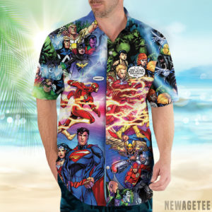 1 Hawaiian Shirt Flash And Pandora Merging Worlds Prime Earth Pandora DC