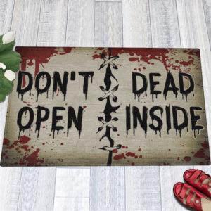 1 Indoor Outdoor Doormat Dont Open Dead Inside Halloween Zombie Doormat