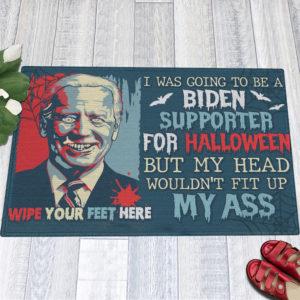 1 Indoor Outdoor Doormat I Was Going To Be A Biden Supporter For Halloween Biden Doormat