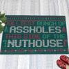 1 Indoor Outdoor Doormat Jolliest Bunch Of Assholes This Side Nuthouse Ugly Christmas Doormat
