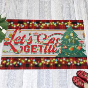 1 Indoor Outdoor Doormat Lets Get Lit Funny Christmas Doormat