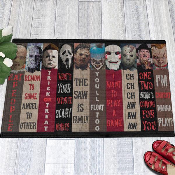 1 Indoor Outdoor Doormat Movie Characters Halloween Horror Decorative Doormat