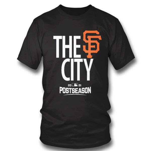 1 T Shirt Mens San Francisco Giants Black 2021 Postseason Authentic Collection Dugout T Shirt