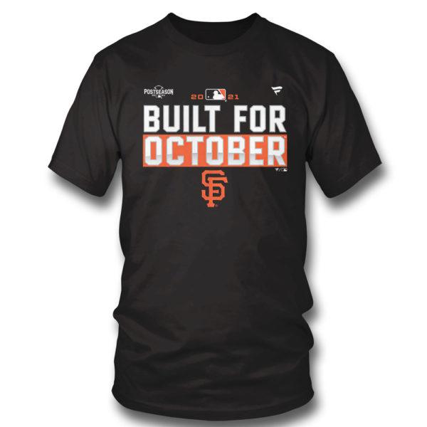 1 T Shirt San Francisco Giants Fanatics Branded Black 2021 Postseason Locker Room T Shirt