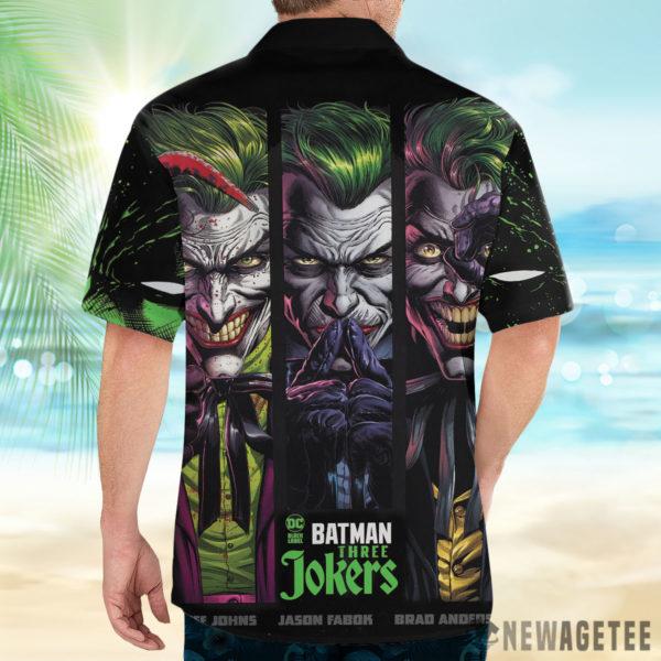 2 Button Up Shirt Batman Three Jokers