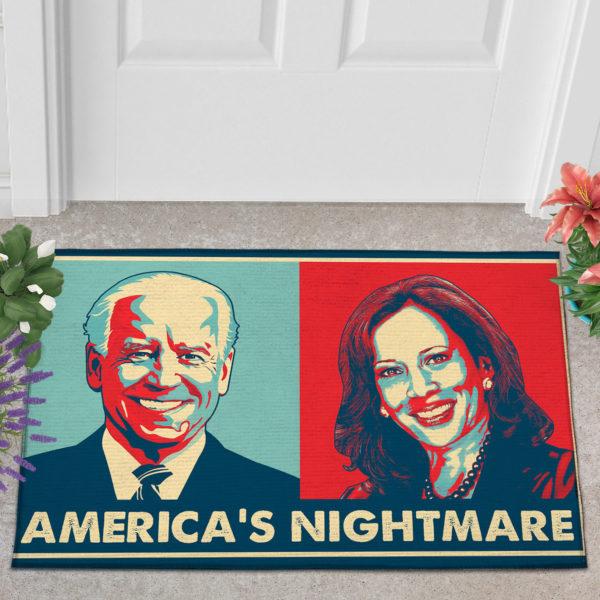 2 Outdoor Door Mat Americas Nightmare Joe Biden Kamala Harris Indoor Doormat