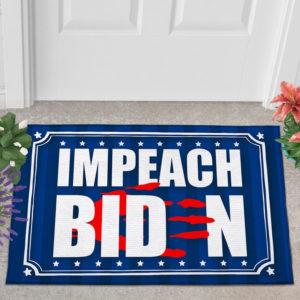 2 Outdoor Door Mat Anti Biden Blood On His Hands Bloody Hand Impeach Biden Indoor Doormat