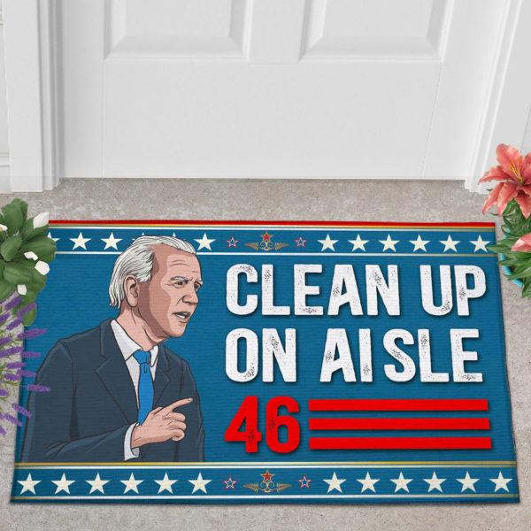 2 Outdoor Door Mat Anti Biden Clean Up On Aisle 46 Impeach Biden Indoor Doormat