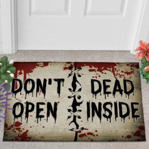 2 Outdoor Door Mat Dont Open Dead Inside Halloween Zombie Doormat