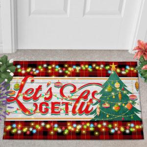 2 Outdoor Door Mat Lets Get Lit Funny Christmas Doormat