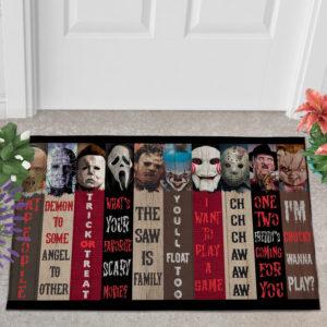 2 Outdoor Door Mat Movie Characters Halloween Horror Decorative Doormat