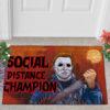 2 Outdoor Door Mat Myers Social Distance Champion Serial Killer Halloween Doormat
