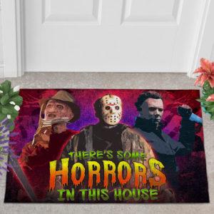 2 Outdoor Door Mat There Is Some Horrors in This House Halloween Horror Characters Doormat