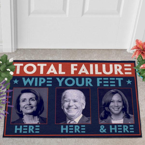 2 Outdoor Door Mat Total Failure Wipe Feet Here Anti Biden Doormat