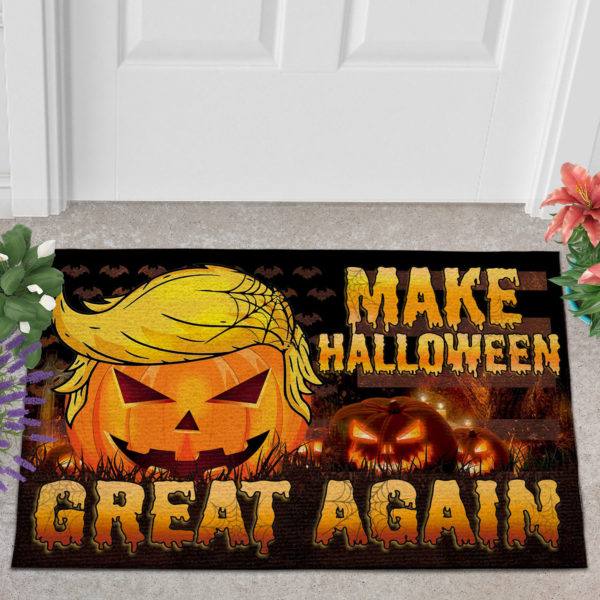 2 Outdoor Door Mat Trumpkin American Make Halloween Great Again Doormat