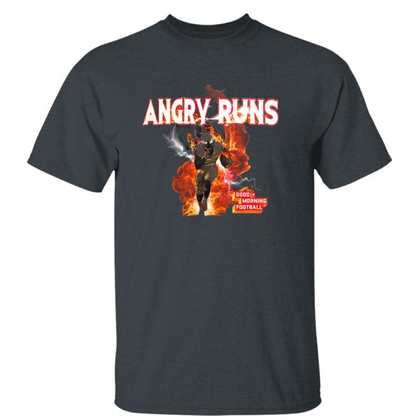 2 T Shirt Dark Heather Angry Runs T Shirt Nfl T shirt