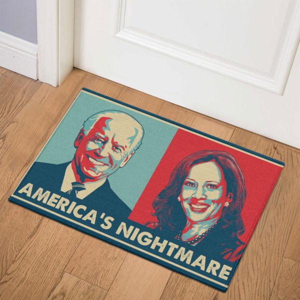 3 Indoor Door Mat Americas Nightmare Joe Biden Kamala Harris Indoor Doormat