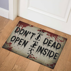 3 Indoor Door Mat Dont Open Dead Inside Halloween Zombie Doormat
