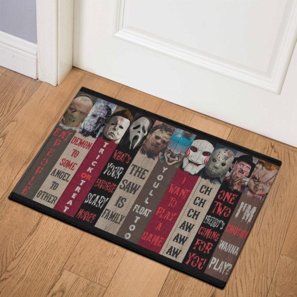 3 Indoor Door Mat Movie Characters Halloween Horror Decorative Doormat