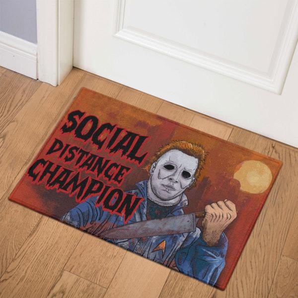 3 Indoor Door Mat Myers Social Distance Champion Serial Killer Halloween Doormat