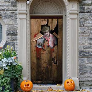 Zombie Halloween Door Cover Decorations for Front Door