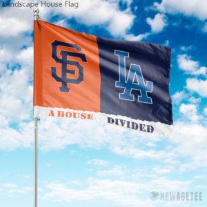 Los Angeles Dodgers vs San Francisco Giants House Divided Garden Flag House Baseball Flag