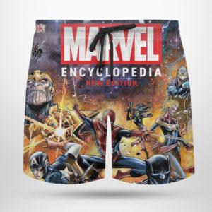 4 Beach Shorts Marvel Encyclopedia New Edition