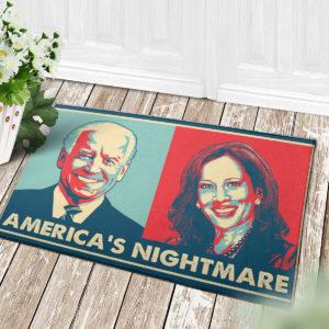 4 Decor Outdoor Doormat Americas Nightmare Joe Biden Kamala Harris Indoor Doormat