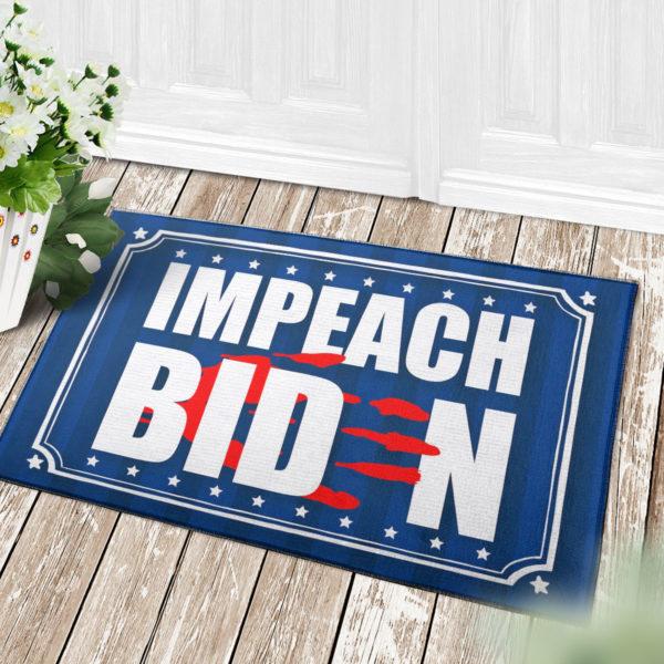 4 Decor Outdoor Doormat Anti Biden Blood On His Hands Bloody Hand Impeach Biden Indoor Doormat