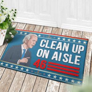 4 Decor Outdoor Doormat Anti Biden Clean Up On Aisle 46 Impeach Biden Indoor Doormat