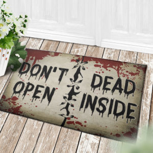 4 Decor Outdoor Doormat Dont Open Dead Inside Halloween Zombie Doormat