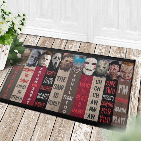 4 Decor Outdoor Doormat Movie Characters Halloween Horror Decorative Doormat