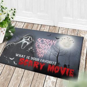 4 Decor Outdoor Doormat Scream Creepy What Is Your Favorite Scary Movie Halloween Doormat