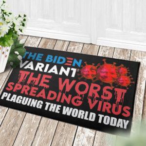 4 Decor Outdoor Doormat The Biden Variant The Worst Spreading Virus Plaguing The World Today Joe Biden Doormat