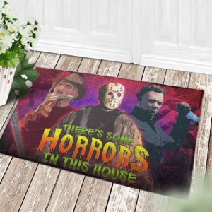 4 Decor Outdoor Doormat There Is Some Horrors in This House Halloween Horror Characters Doormat