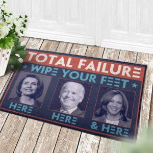 4 Decor Outdoor Doormat Total Failure Wipe Feet Here Anti Biden Doormat