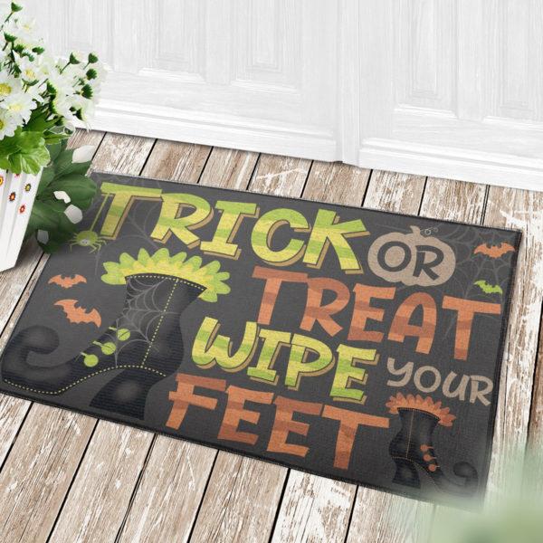 4 Decor Outdoor Doormat Trick Or Treat Wipe Your Feet Witch Halloween Doormat