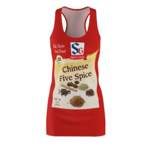 Chinese Five Spice Girls Group Halloween Costumes Dress
