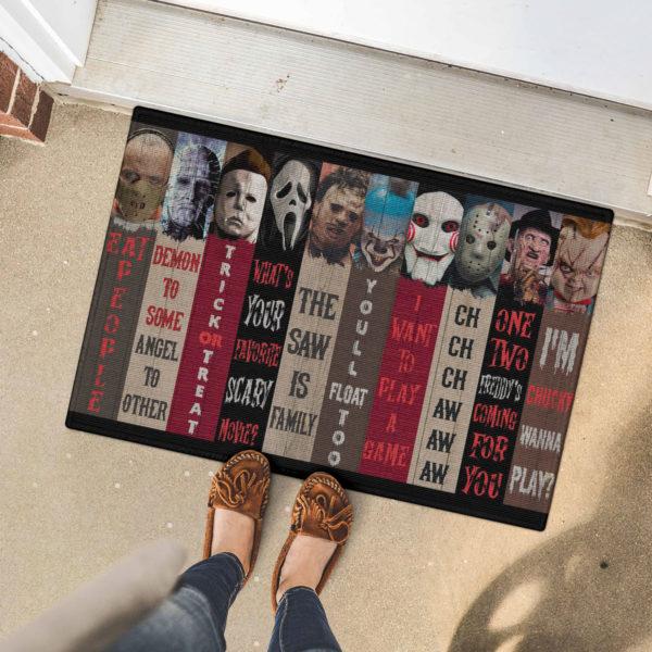 5 Font Door Mat Movie Characters Halloween Horror Decorative Doormat