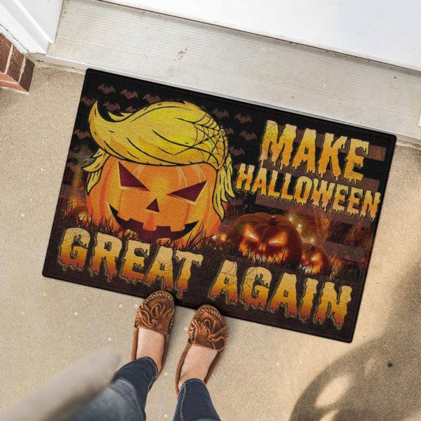 5 Font Door Mat Trumpkin American Make Halloween Great Again Doormat