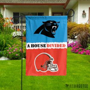 Carolina Panthers vs Cleveland Browns Divided Garden Flag House Baseball Flag